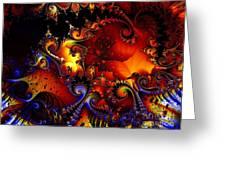 Texture Of Jackolantern Greeting Card