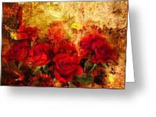 Texture Roses Greeting Card