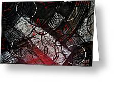 Textured Abstract Art Greeting Card
