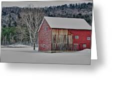 Textured Barn Greeting Card