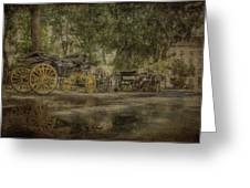 Textured Carriages Greeting Card