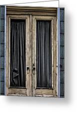 Textured Door Greeting Card