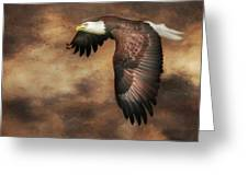 Textured Eagle 2 Greeting Card