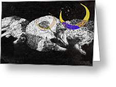 Textured Night For Borzoi Dogs Greeting Card