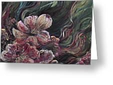 Textured Pink Petals Greeting Card