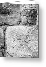 Textured Stone Wall Greeting Card