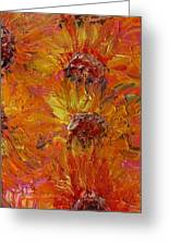 Textured Sunflowers Greeting Card