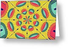 Textured Tropical Mandala Greeting Card