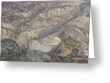 Textured Valleys Greeting Card