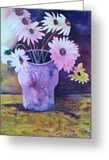 Textured Vase Greeting Card