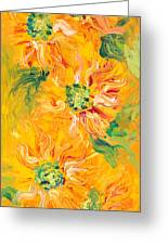 Textured Yellow Sunflowers Greeting Card