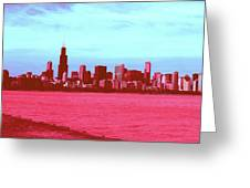 Textures Of Chicago Greeting Card