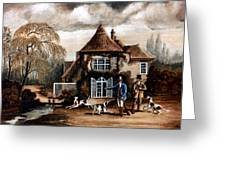 Th Hunting Lodge. Greeting Card