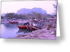 Thai Fishing Boats 05 Greeting Card