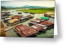Thai Floating Village Greeting Card