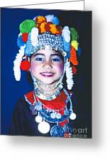 Thai Girl Traditionally Dressed Greeting Card