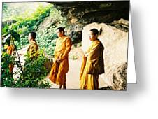Thai Monks Greeting Card