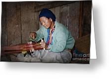 Thai Weaving Tradition Greeting Card
