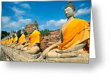 Thailand, Ayathaya Greeting Card