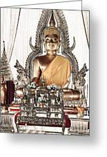 Thailand Gold Buddha Greeting Card