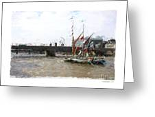 Thames Barges Greeting Card