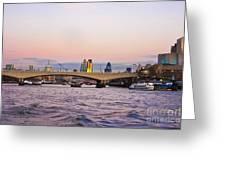 Thames Glow Greeting Card