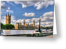Thames River In London # 3 Greeting Card