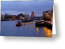 Thames Riverside Greeting Card