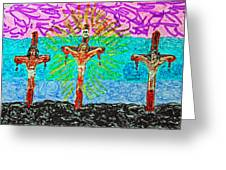 Thank God For Good Friday 3 Greeting Card