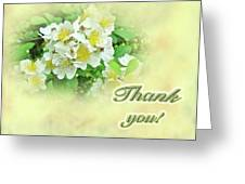 Thank You Card - Multiflora Roses Greeting Card