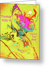 Thank You Card Abstract Lilac Breasted Roller Greeting Card