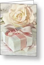 Thank You Gift At Wedding Reception Greeting Card by Sandra Cunningham