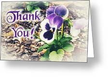 Thank You Pansy Greeting Card