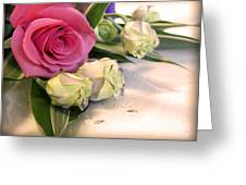Thank You Rose Bouquet  Greeting Card