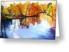 Thanksgiving Day II     Reflections On Blue Greeting Card by Lucinda  Hansen