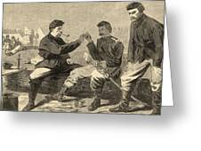 Thanksgiving Day In The Army Greeting Card