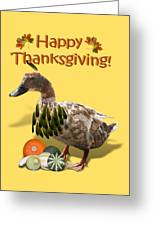 Thanksgiving Indian Duck Greeting Card