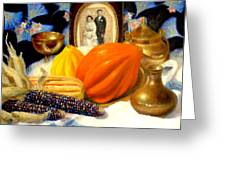 Thanksgiving Of The Past Greeting Card
