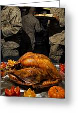 Thanksgiving Turkey For Us Military Servicemen Greeting Card