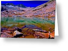 That Is The Glacier Up There Greeting Card