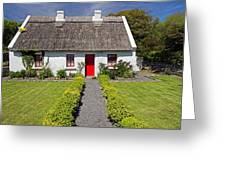 Thatch Roof Cottage Ireland Greeting Card