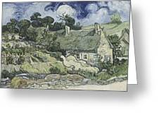 Thatched Cottages At Cordeville Greeting Card