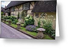 Thatched Cottages Of Hampshire 24 Greeting Card