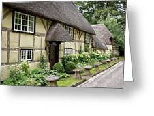 Thatched Cottages Of Hampshire 25 Greeting Card
