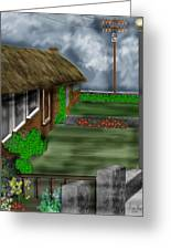 Thatched Roof Cottages In Ireland Greeting Card
