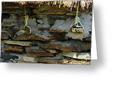 Thatched Roof Ties Greeting Card