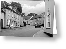 Thaxted Cottages In Black And White Greeting Card