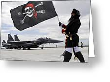 The 428th Fighter Squadron Buccaneer Greeting Card