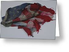 The 9 11 W T C Fallen Heros American Flag Greeting Card