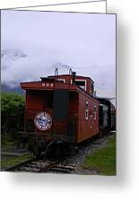 The 909 Caboose Greeting Card